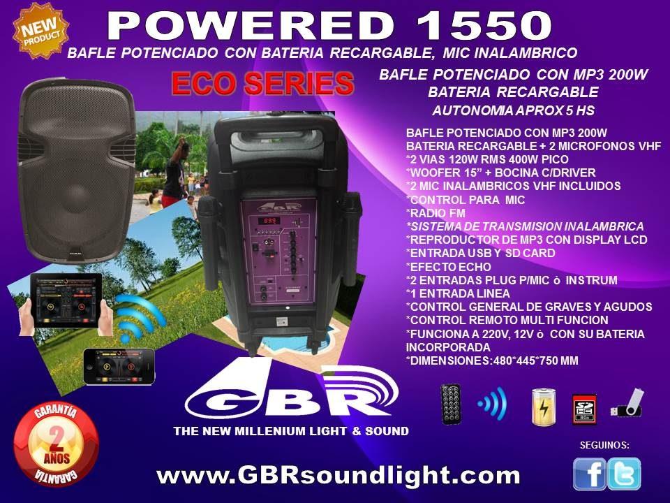 BAFLE GBR POWERED 1550